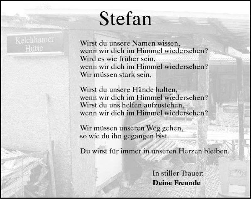 Silvester ohne dich trauer
