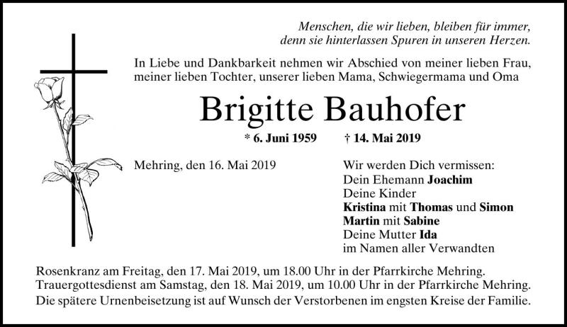 Brigitte Bauhofer Pnp Trauerportal