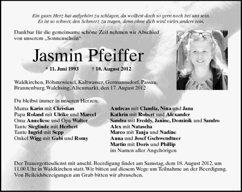 Traueranzeigen Todesanzeigen Trauerfall Trauer PNP