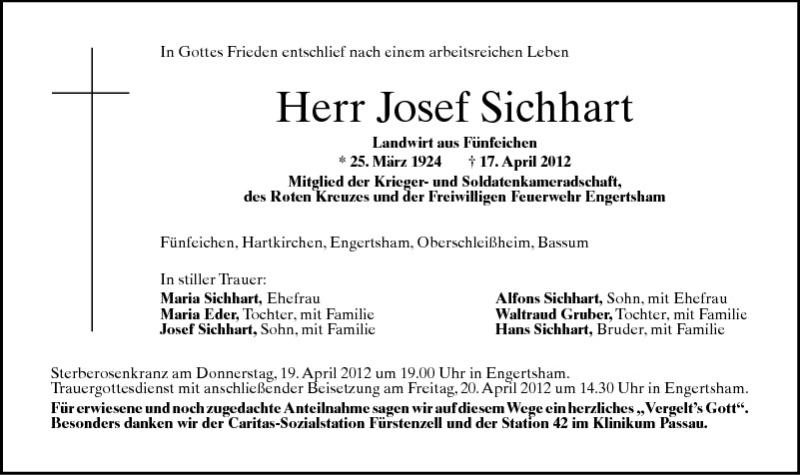 Josef Sichhart Funfeichen