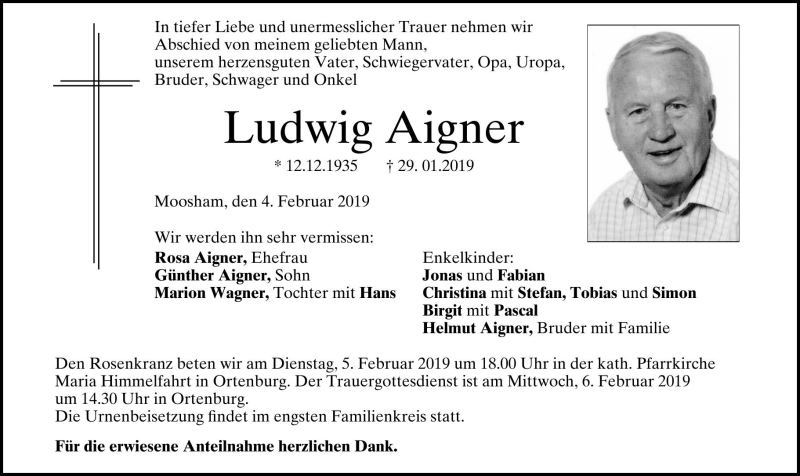 neuesten Stil von 2019 Veröffentlichungsdatum Super Rabatt Traueranzeigen, Todesanzeigen, Trauerfall, Trauer, PNP