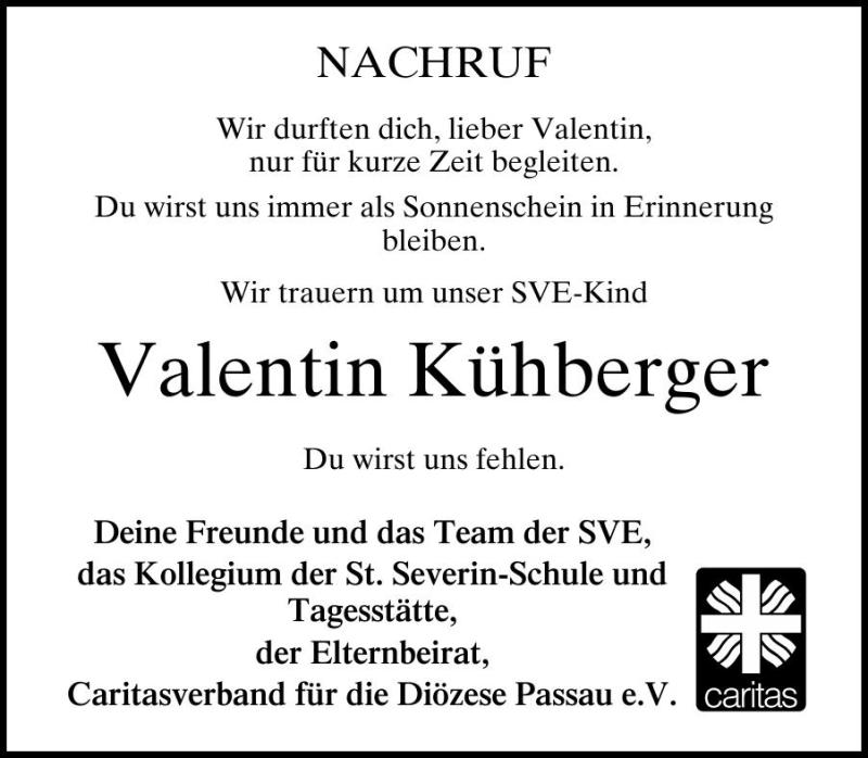 Kühberger Waldkirchen traueranzeigen todesanzeigen trauerfall trauer pnp