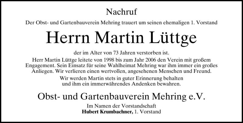 Martin Lüttge, Mehring